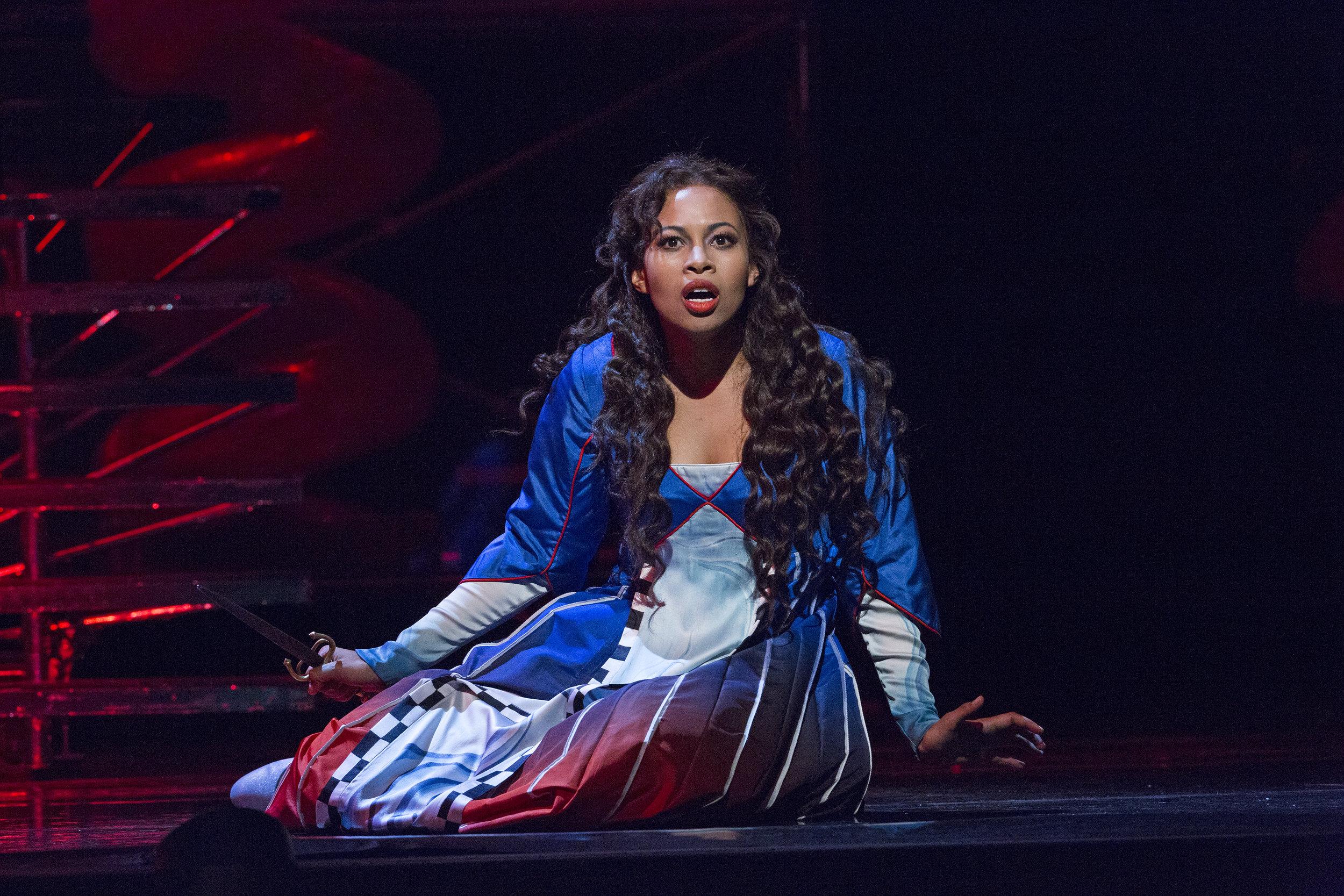 Pamina in  Die Zauberflöte  at The Metropolitan Opera, Sep & Nov 2017. Photo by Richard Termine/Metropolitan Opera.