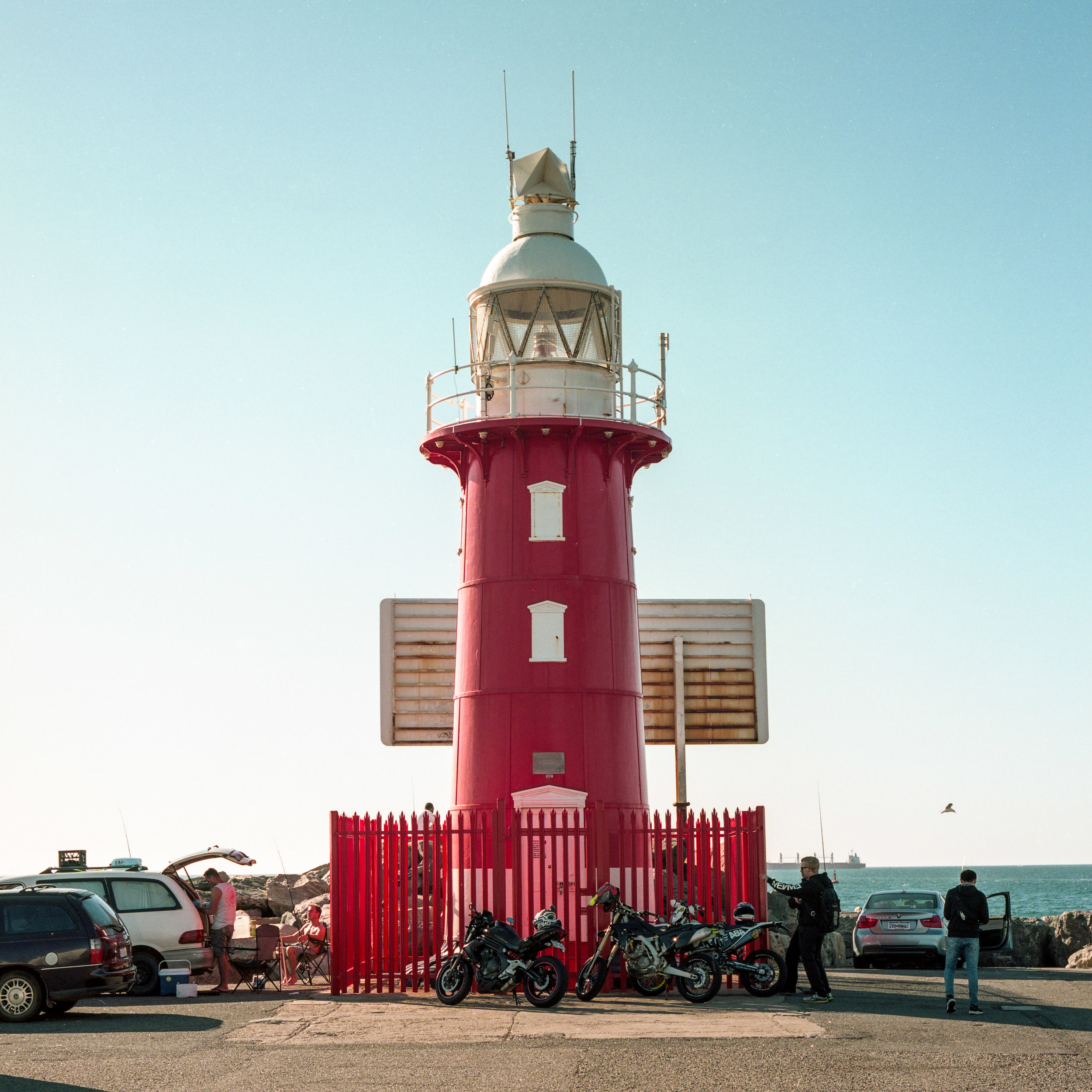 Bright Red Lighthouse