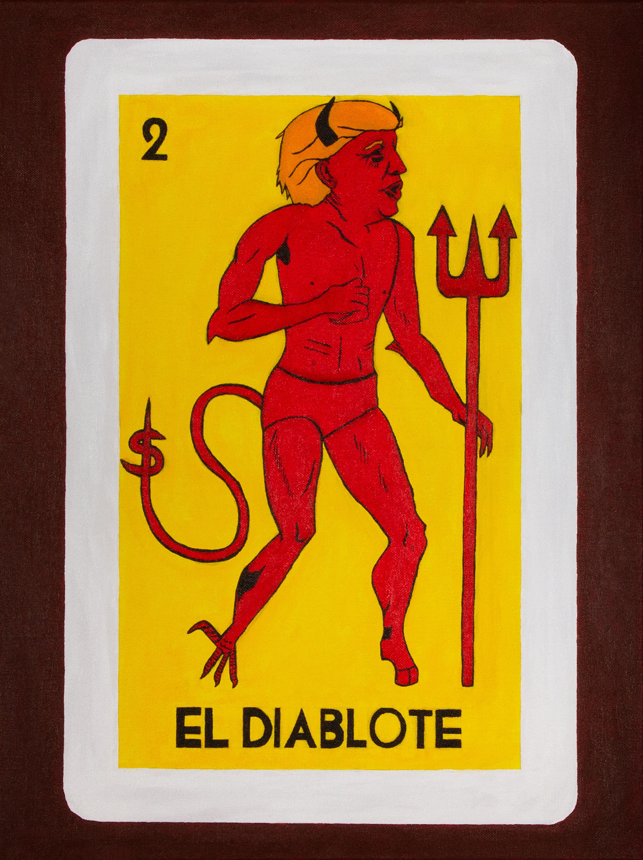El Diablote   acrylic on canvas