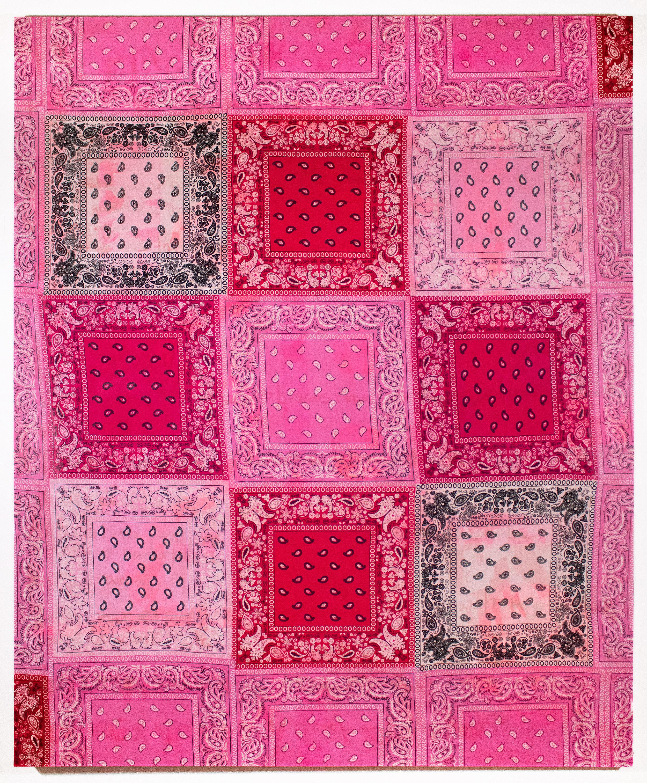 Por rosa   bandanas on acrylic on canvas