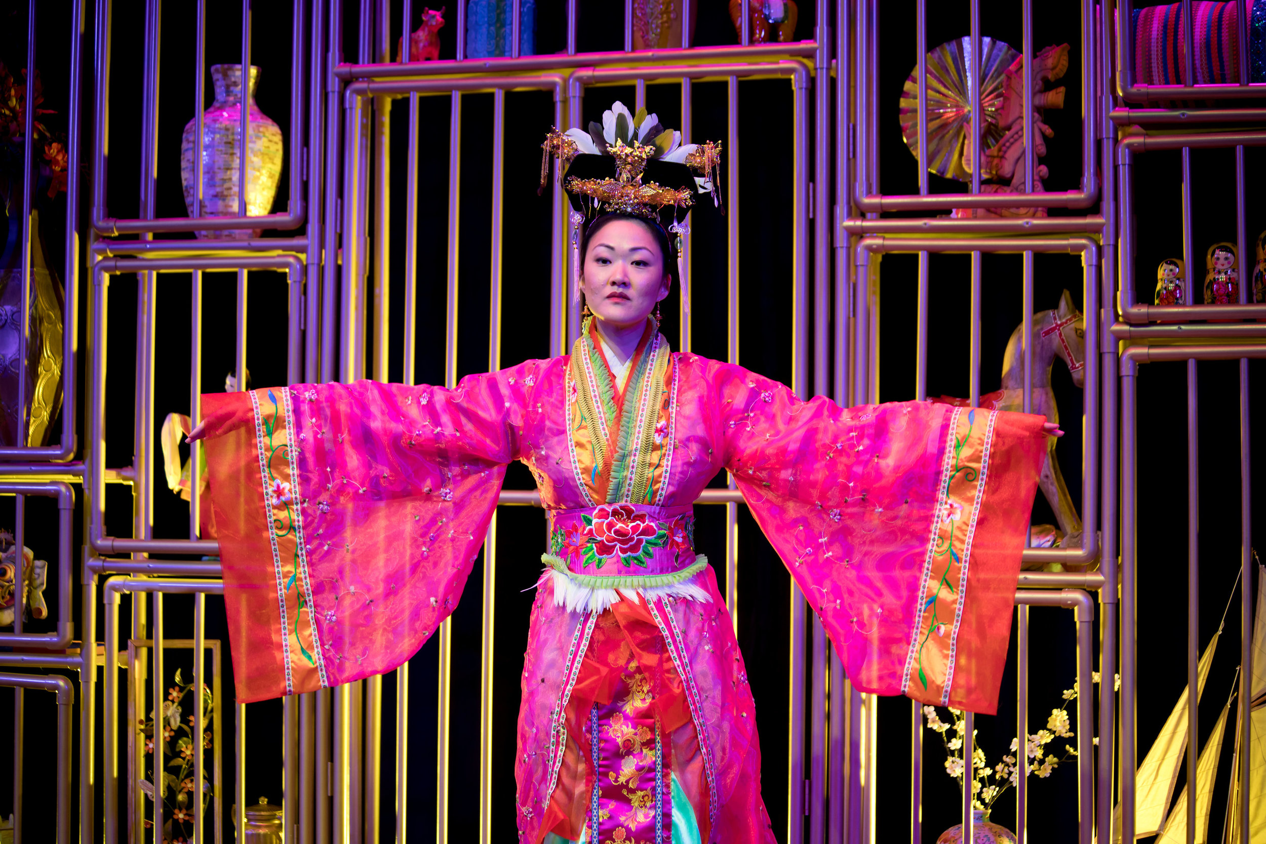 Jully Lee in The Enchanted Nightingale at the Garry Marshall Theatre. Photo by Lisa Francesca Photography.