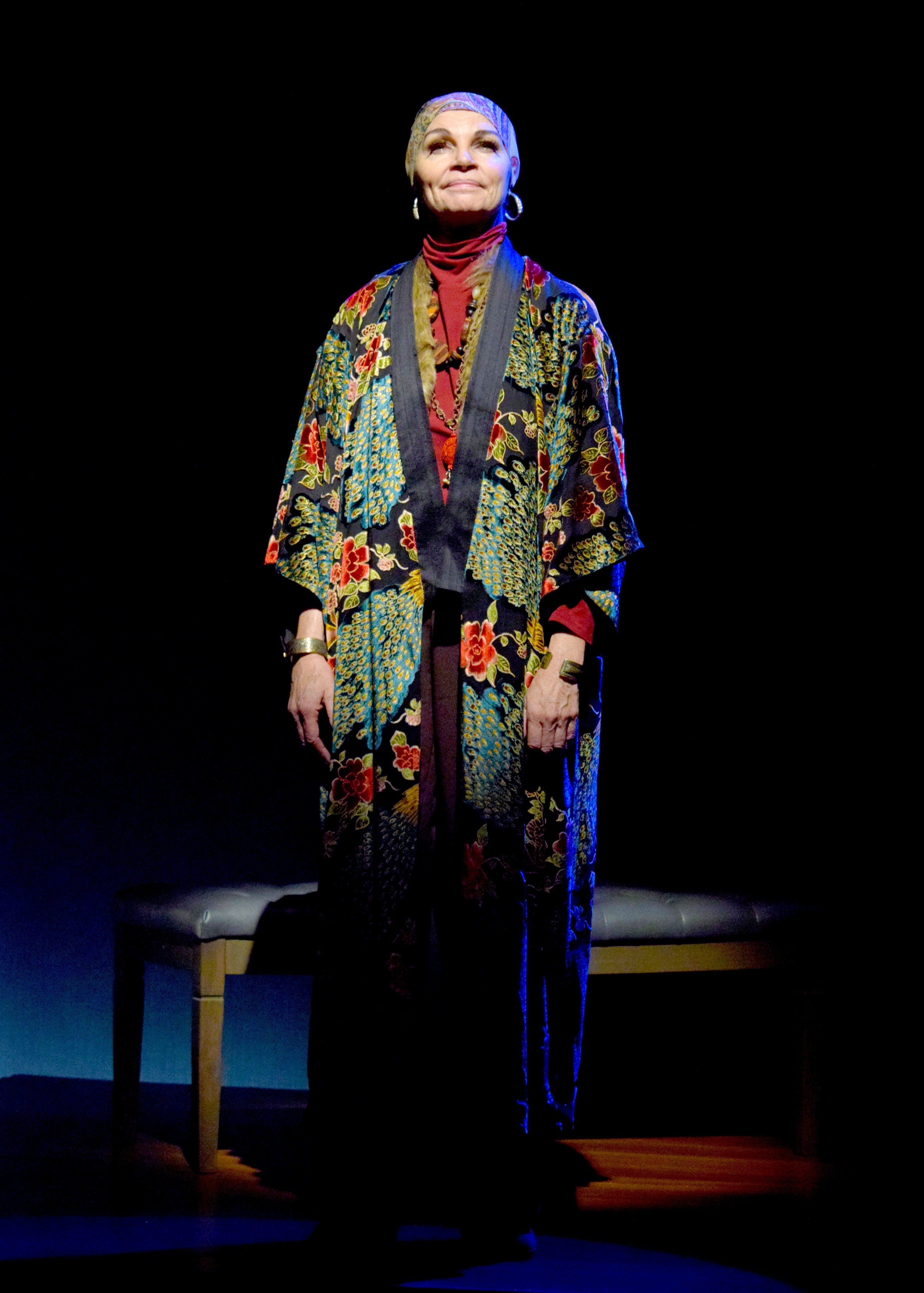 Martha Hackett in the west coast premiere of Edward Albee's Occupant at the Garry Marshall Theatre. Photo by Chelsea Sutton.