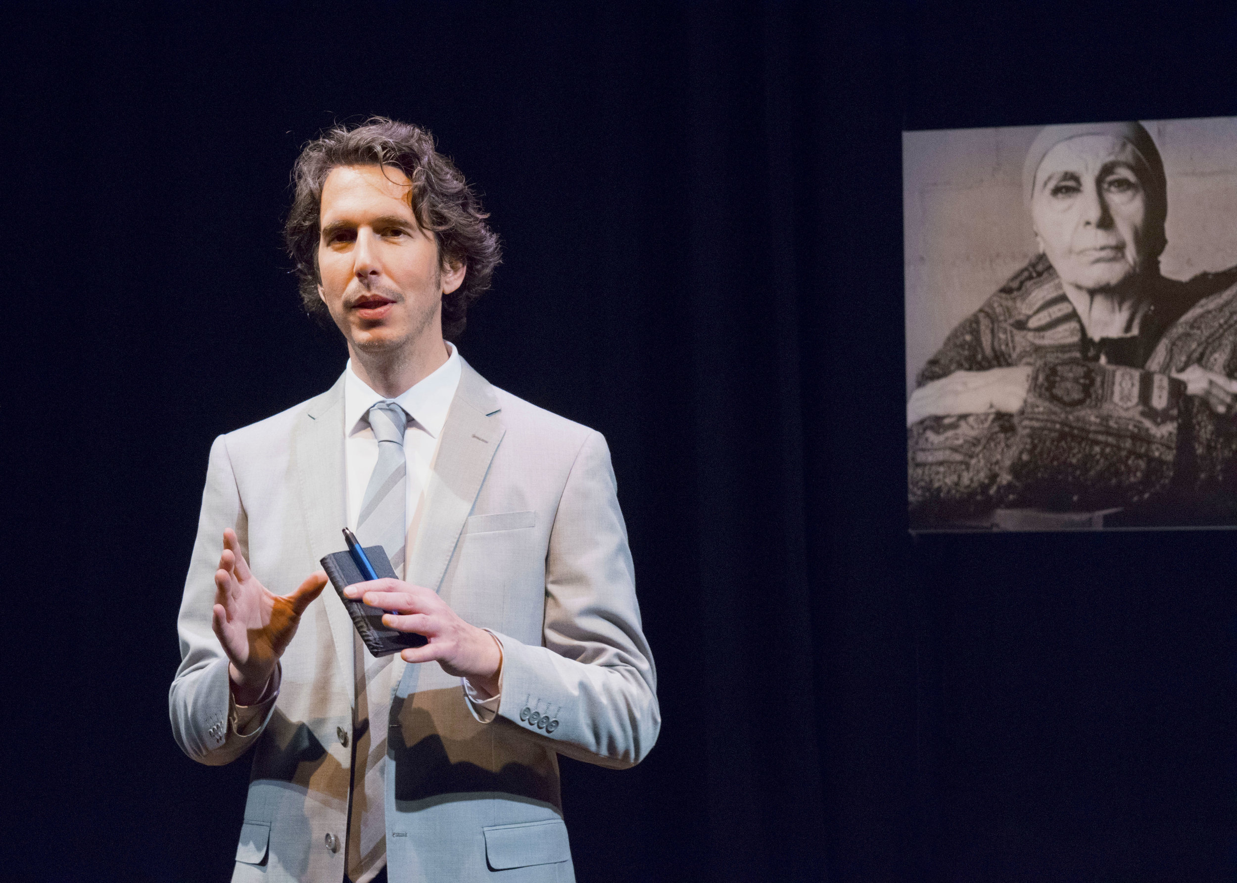 James Liebman in the west coast premiere of Edward Albee's Occupant at the Garry Marshall Theatre. Photo by Chelsea Sutton.