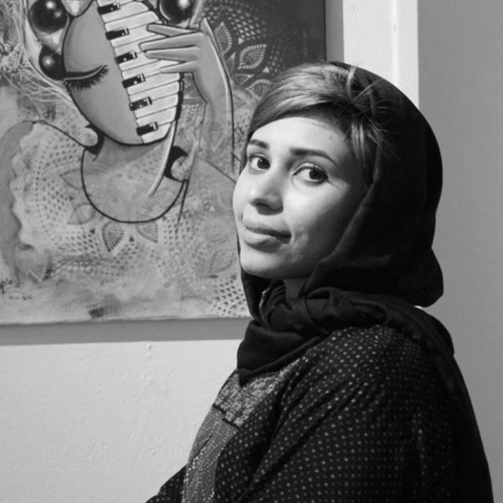 Shamsia Hassani   (b.1988, Tehran, Iran) is an Afghan graffiti artist and a lecturer of Fine Arts at Kabul University, Afghanistan. She received her bachelor's degree in Arts in 2010 and master's degree in Visual Arts in 2014 from Kabul University. She is a co-founder of Berang Art Organization, an artist run group that promotes contemporary art and culture in Afghanistan through programs, workshops, seminars, and exhibitions. Through her artwork, she gives Afghan women power in a male dominated society.