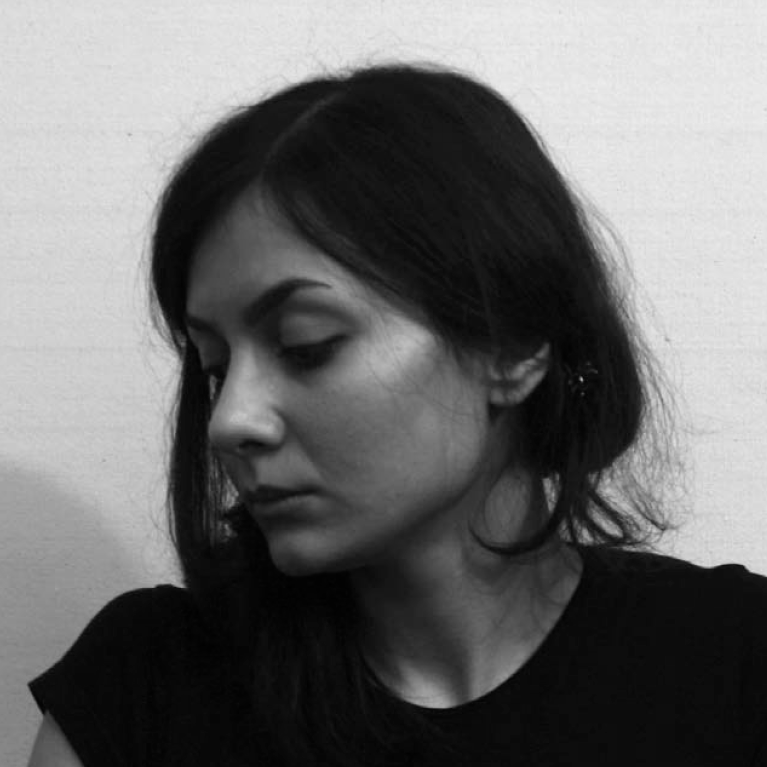 Leyli Rashidi   was born in Tehran in 1986. She received her  BA in Visual Arts from the Shahed Art University in Tehran in 2010. She is the recipient of many awards including the London's Young Artists competition in 2009. She has participated in many group exhibits in Tehran from 2009 to 2014, as well as the Abu Dhabi Art Fair in 2010. Rashidi is a painter. Her subjects are usually women, preferably self portraits or people in her life. She usually paints on large canvases but in her Women on The Edge series, she ventures into small circular paintings as seen in this exhibition. Rashidi  is married to the artist Morteza Pourhosseini.
