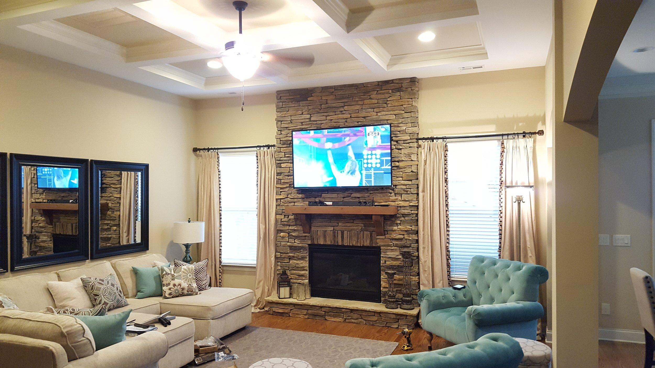 Recent Fireplace Installation Utilizing A Tilt Mount Jrw Residential