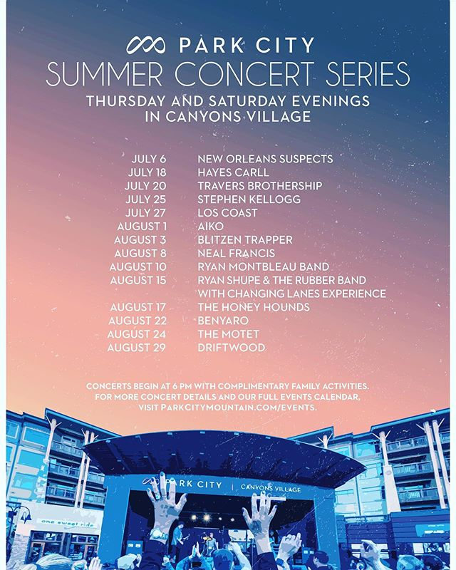 PARK CITY CONCERT SERIES This is a big one! Thrilled to announce we'll be part of the Park City Summer Concert Series in Canyons Village, headlining on AUGUST 22. Humbled to be on a lineup that includes The Motet, Blitzen Trapper, Hayes Carll, Aiko and many more incredible bands! See you soon in #Utah! Happy summer!! XO #indie #punkamericana #soulmusic #rocknroll #bluesmusic #mountainwest #powerduo #parkcity #jacksonhole #wyoming #summer #concertseries