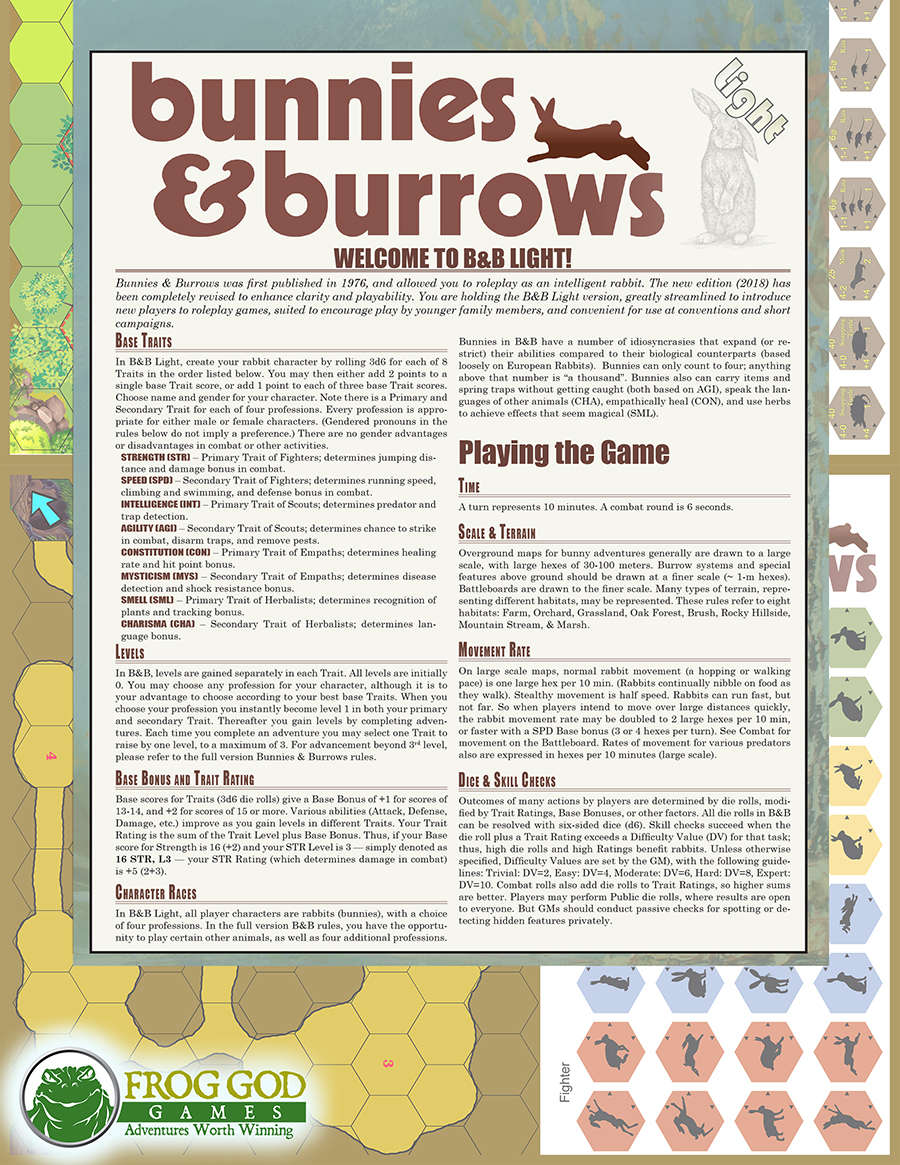Instructions for Bunnies and Burrows
