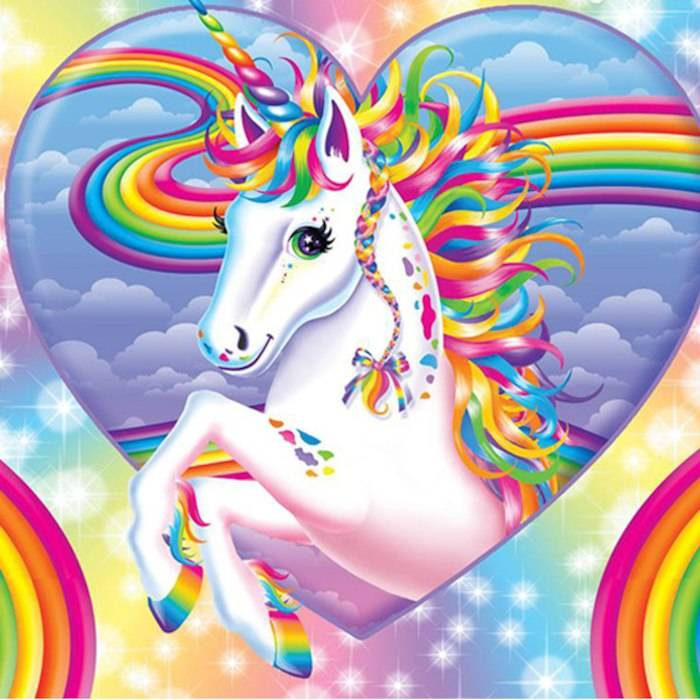 Lisa Frank 90s Style Unicorn