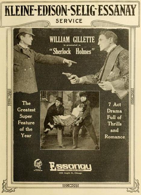 William Gillette's film poster