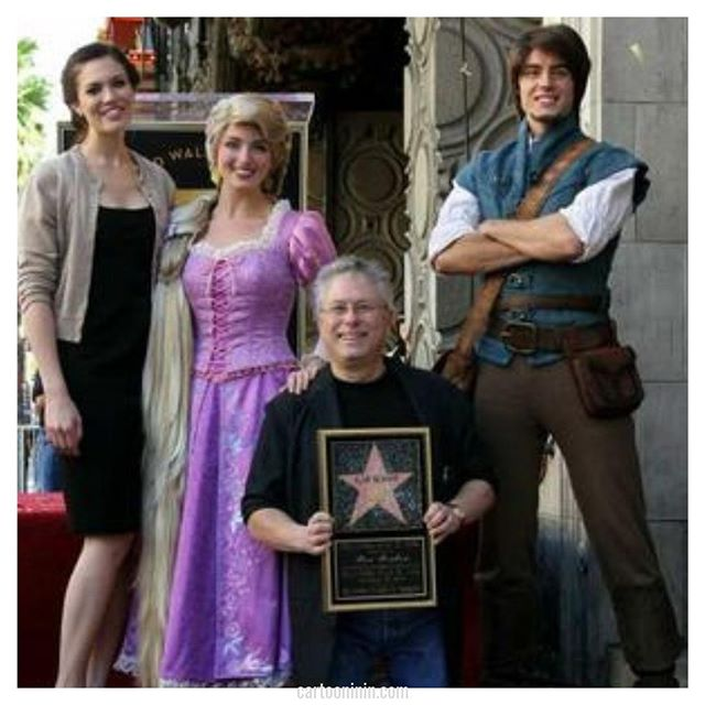 While Alan Menken has been nominated for (and won) numerous awards for his work as a composer for Disney and other projects, he did not get his Hollywood Walk of Fame star until 2010.  Here he is pictured with some of his friends from his most recent Disney work (Tangled), and Mandy Moore (voice of Rapunzel).  Find out more about the dynamic duo of Alan Menken and Howard Ashman in our episode dedicated solely to them: cartooninin.com/episodes/ashmanmenken . . . . #didyouknow #movietrivia #musicaltrivia #musicaltheatre #howardashman #alanmenken #disney #disneytrivia #disneygram #disneylovers #music #composing #theatre  #podcast  #thelittlemermaid #beautyandthebeast #aladdin #tangled #mandymoore #hollywoodwalkoffame #hollywoodstar #rapunzel