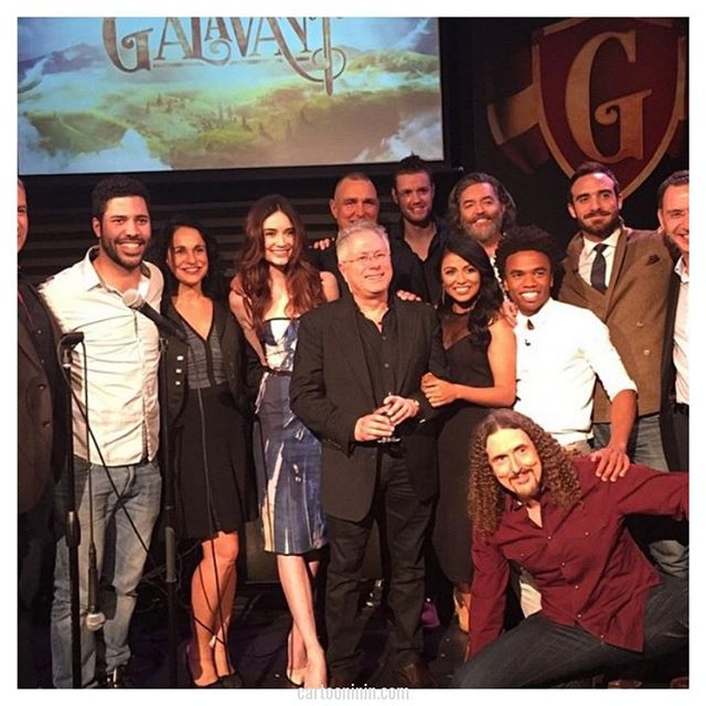 """Alan Menken has continued to work with Disney and on many other projects over the years (particularly on Broadway).  He still says that Ashman was """"the most seminal, brilliant collaborator I ever had.""""  Here Menken is with the cast of ABC's Galavant, of which he wrote the music for.  Find out more about the dynamic duo of Alan Menken and Howard Ashman in our episode dedicated solely to them: cartooninin.com/episodes/ashmanmenken . . . . #didyouknow #movietrivia #musicaltrivia #musicaltheatre #howardashman #alanmenken #disney #disneytrivia #disneygram #disneylovers #music #composing #theatre  #podcast  #thelittlemermaid #beautyandthebeast #aladdin #tangled #pocahontas #sisteract #galavant #partnership  """