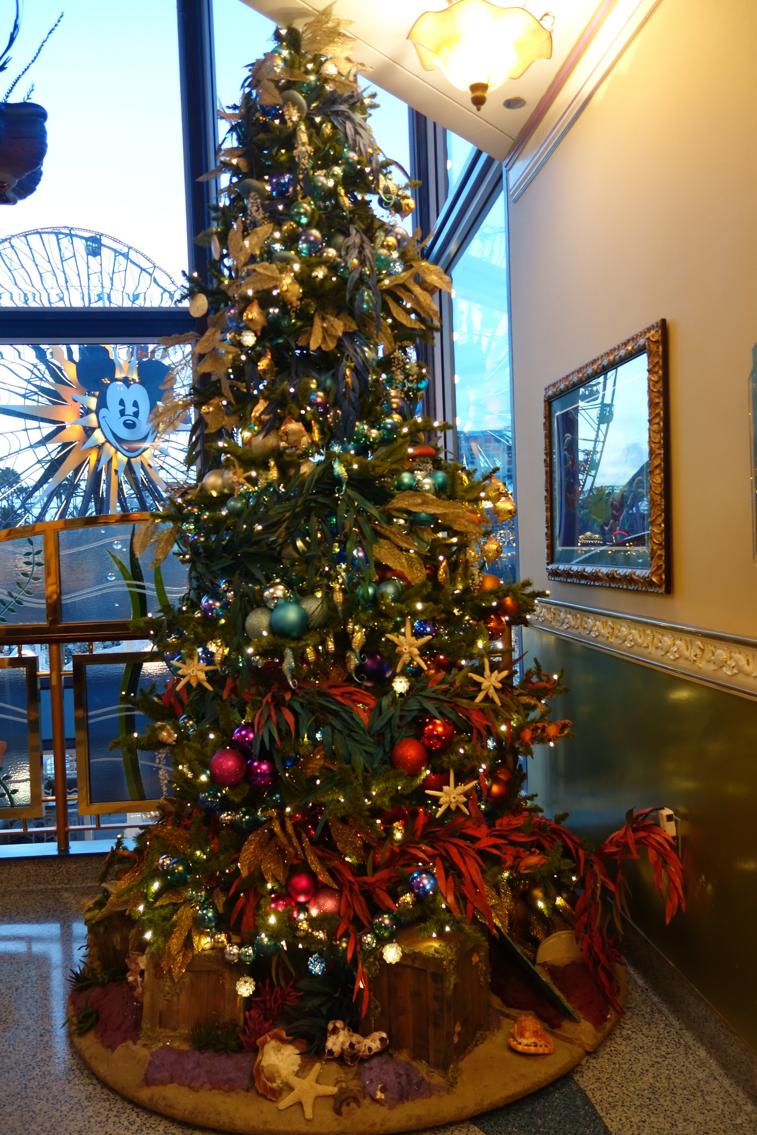 Ariel's Grotto's underwater themed Christmas tree.