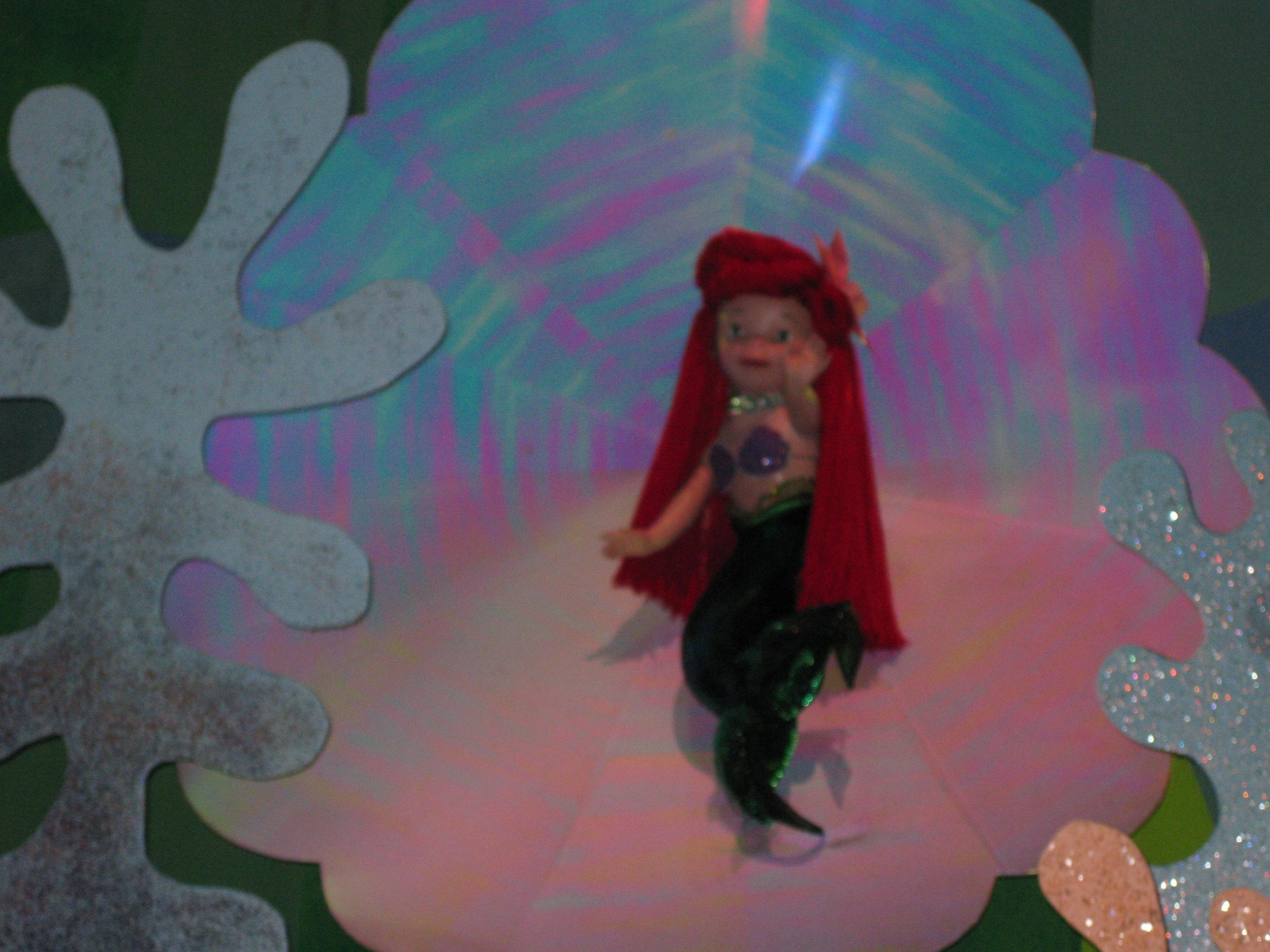 Hidden (?) Ariel in Small World (Disneyland)