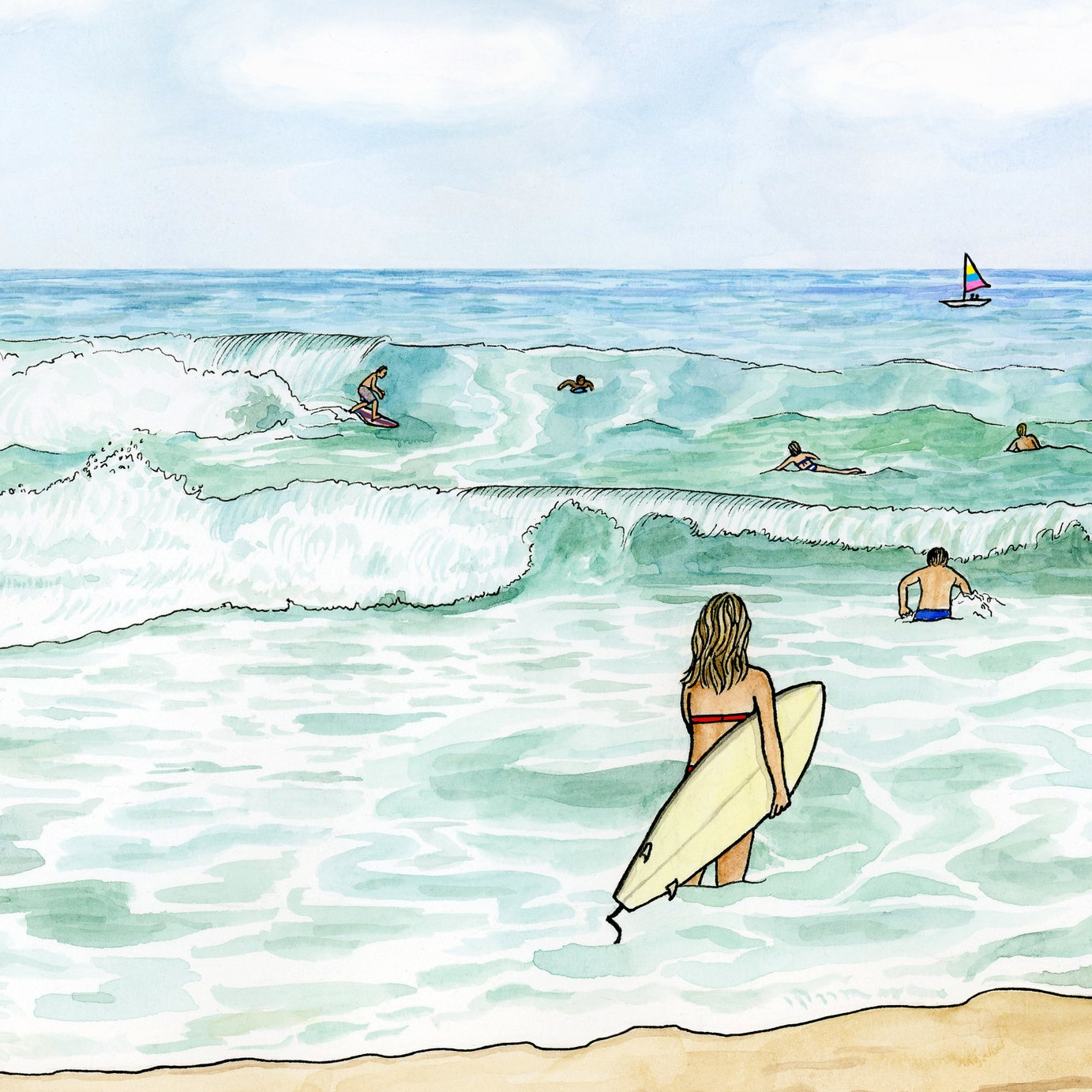 Bumble and bumble: Beach