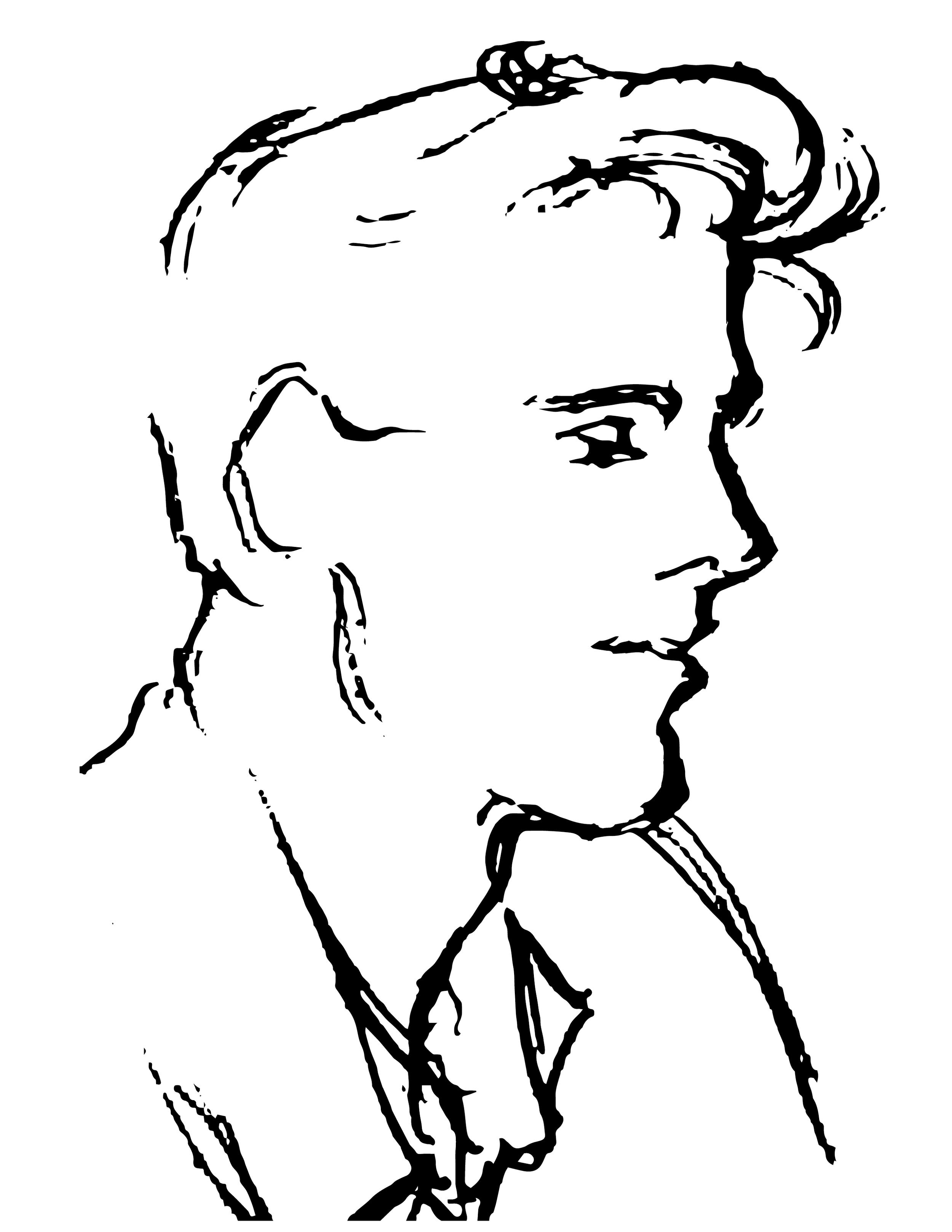 Self portrait vector sketch