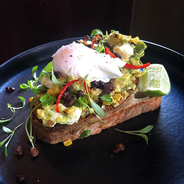 This weekend we thought we would hit you with a cafe classic. Avocado smashed with feta, charred corn, black beans, poached egg, lime and coriander ☀️ . . . . . . . . #theoriginalbrüger #cafefood #cafe #smashedavocado #smashedavocadotoast #deliciousfood #goodfood #healthyfood #avocado #brunch #weekendbrunch #brunchtime #breakfast #foodie #wefo #footscrayeats #melbourneeats #melbournecafe