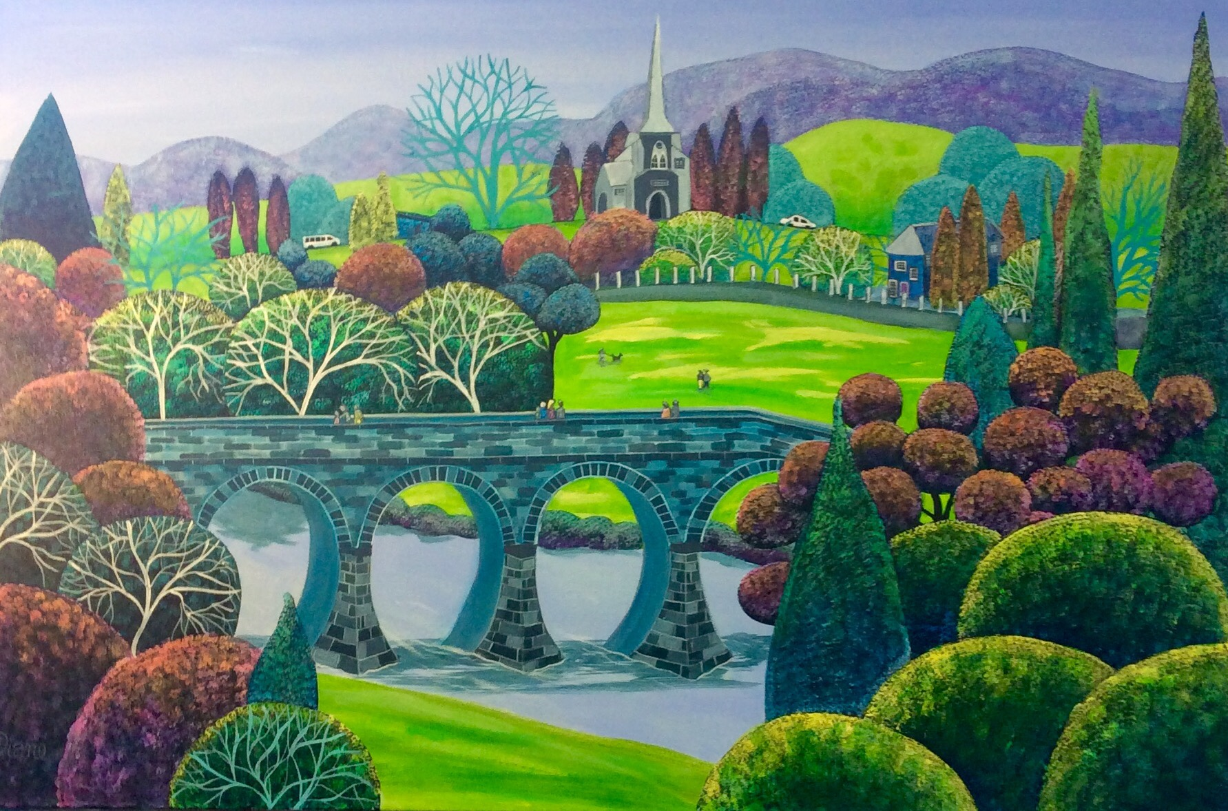 - Rolling Greens of Richmond 61 x 91cm (SOLD)