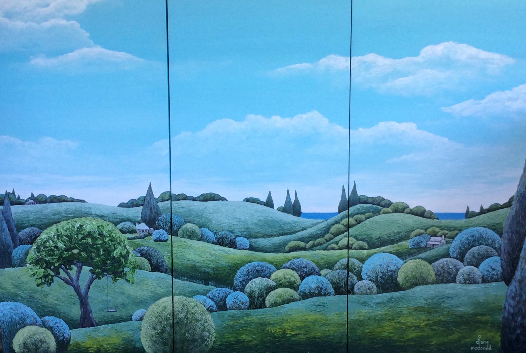 - Hinterland (triptych) 102 x 153cm $2300