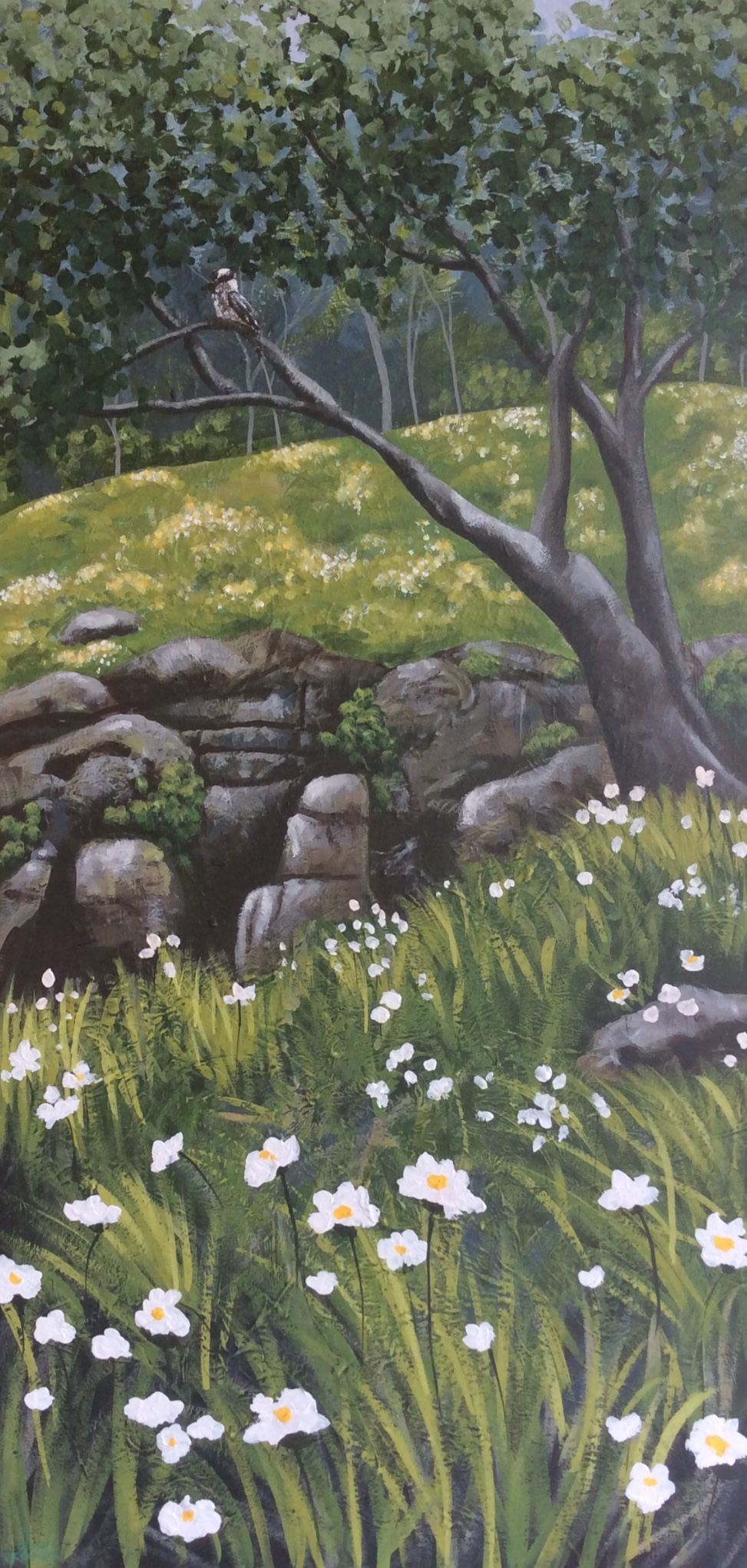 Daisies by the Falls