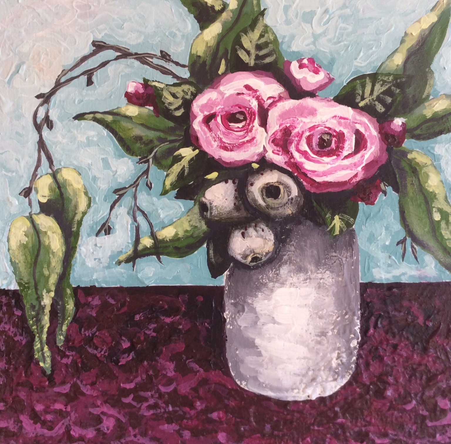 Gumnuts and Roses 1