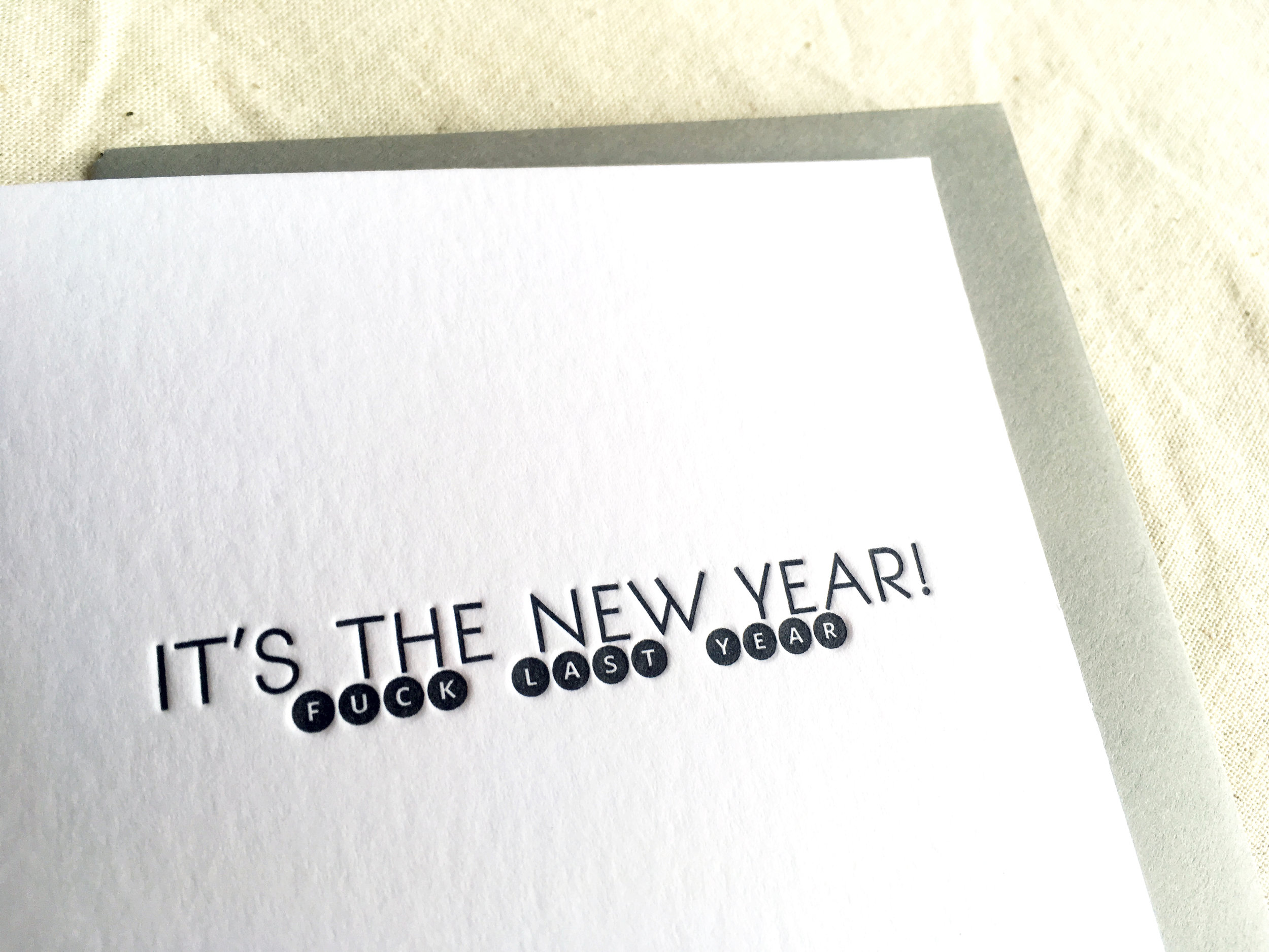 Also, I'm totally feeling these cards we printed at  Darling Press ... jes' sayin'.
