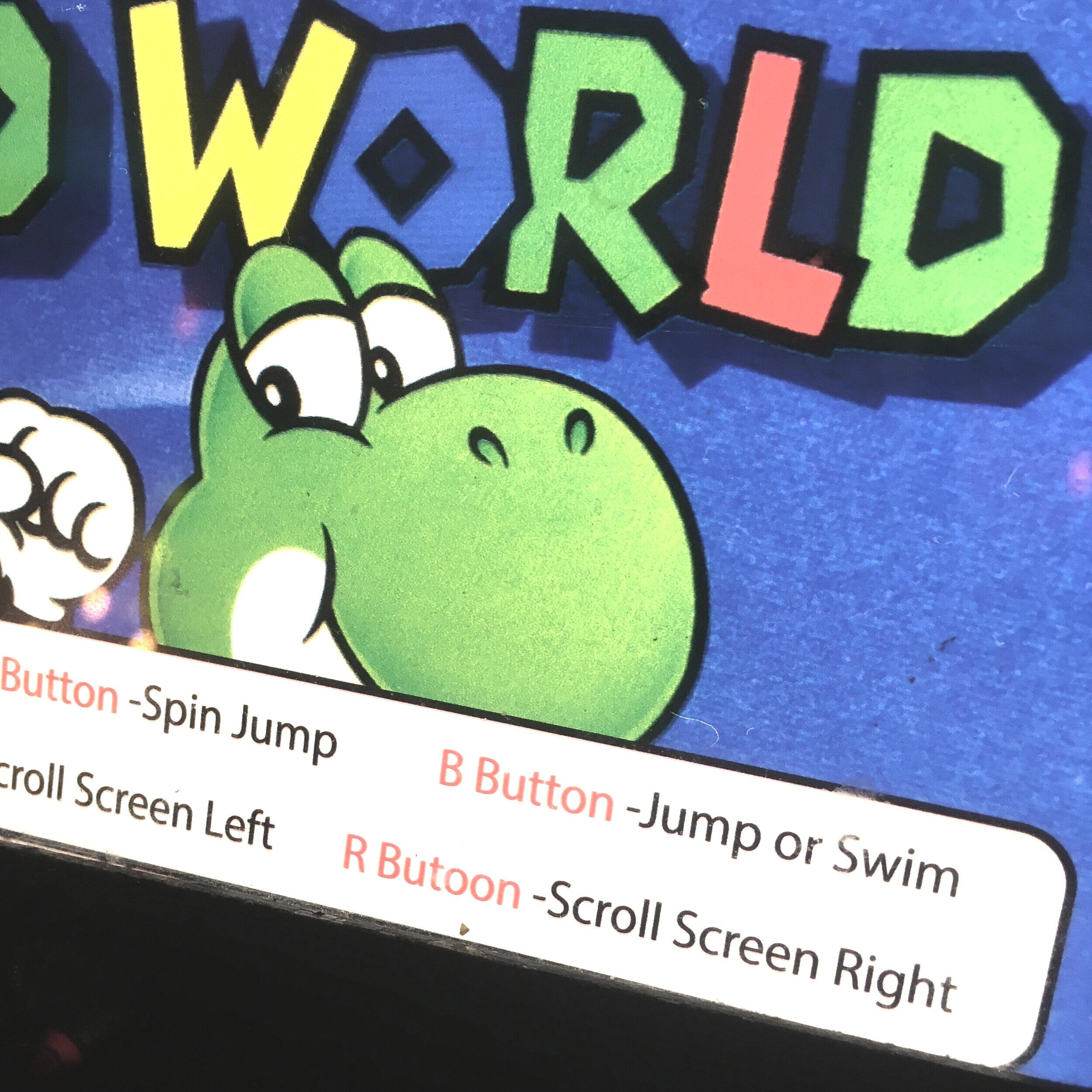 Yoshi is a terrible proof-reader.