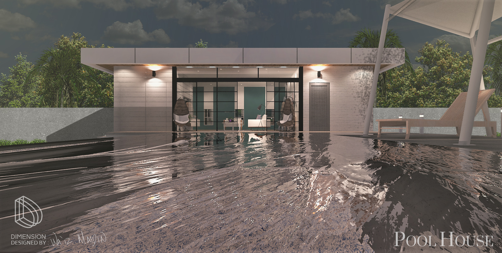POOL HOUSE   Exterior and interior design