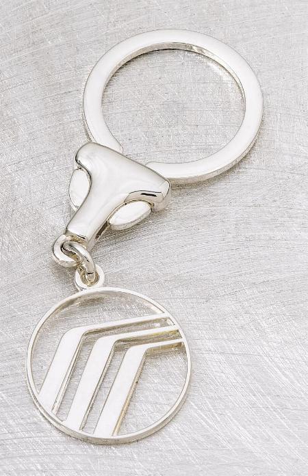 Eurostyle circular key ring with custom medallion   22-2500