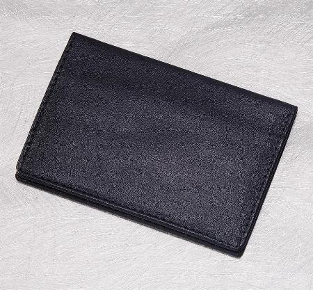Black Business card case in black full grain leather   22-5900