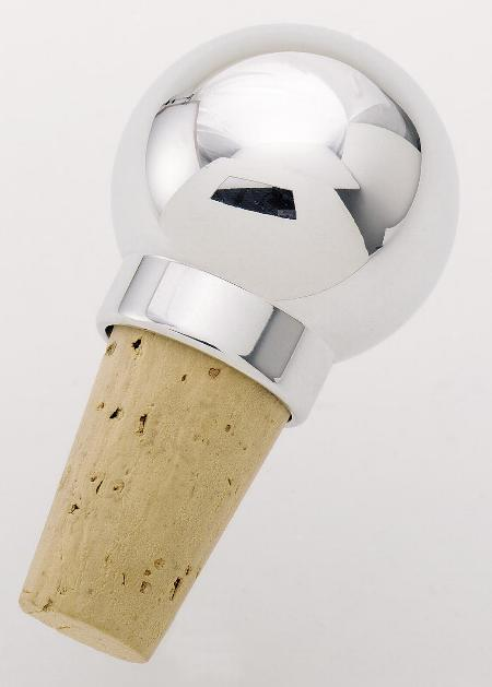 Round wine stopper machined in solid billet aluminum   22-5626