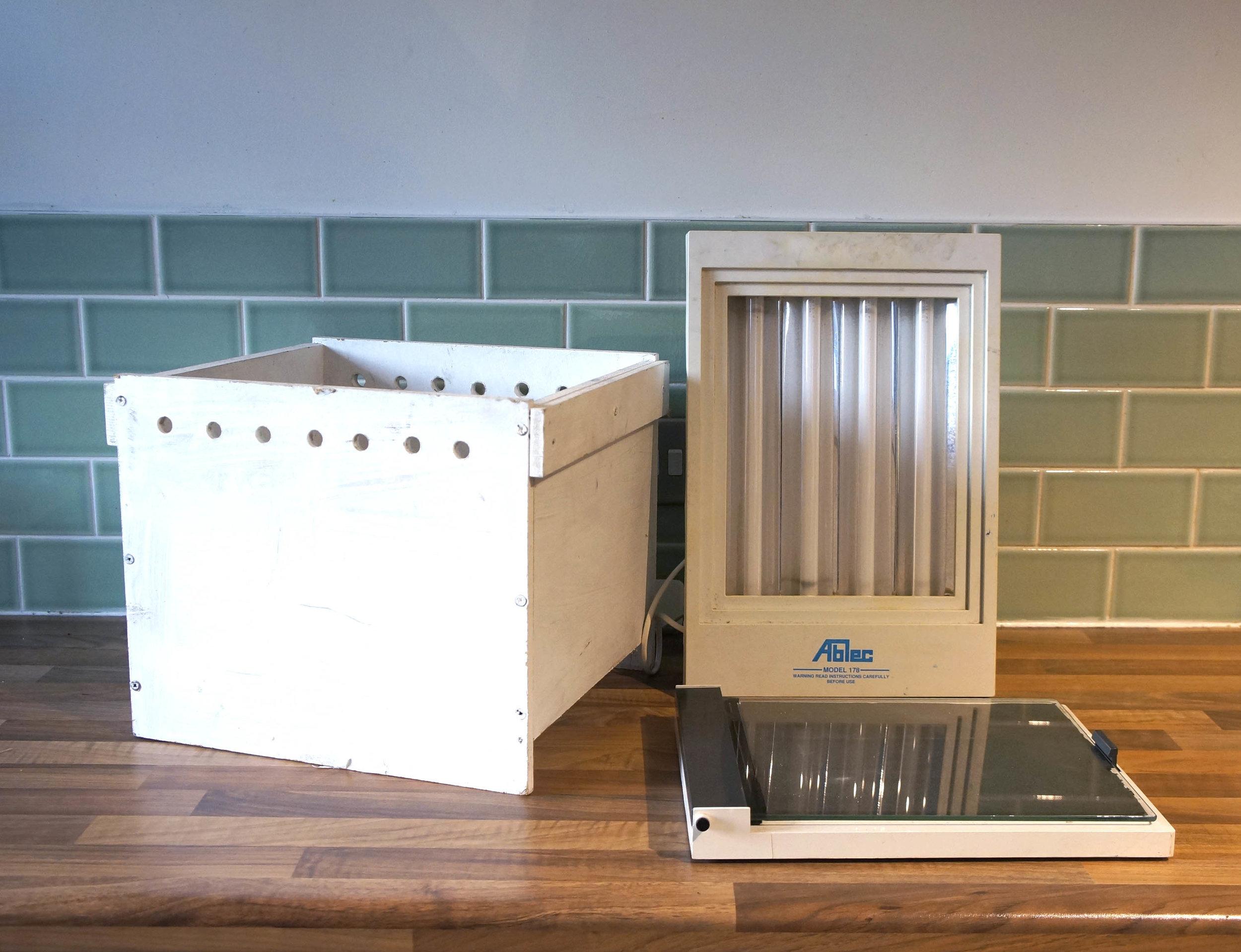 DIY solar plate uv exposure unit