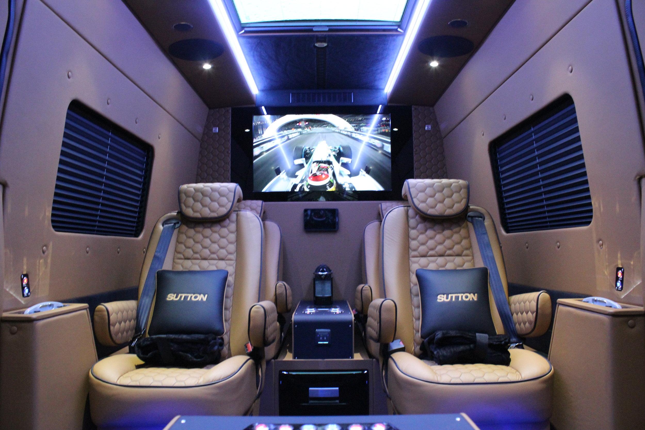 Inside the Sutton VIP Class Sprinter.