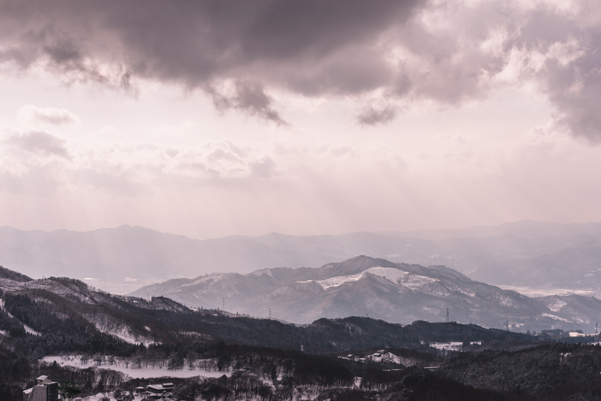 View from the Zao Onsen Slopes