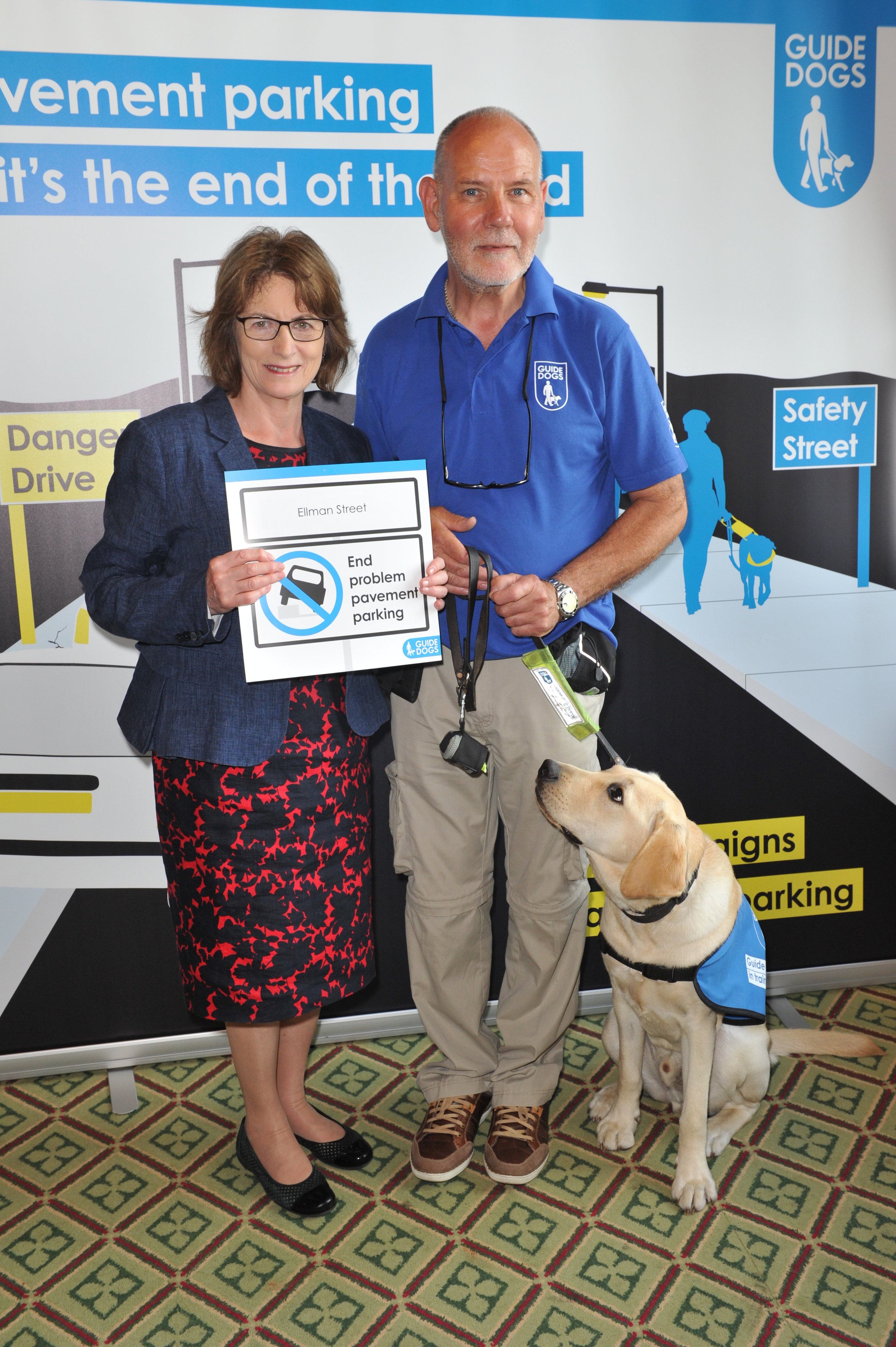 Supporting Guide Dogs UK's campaign to stop pavement parking