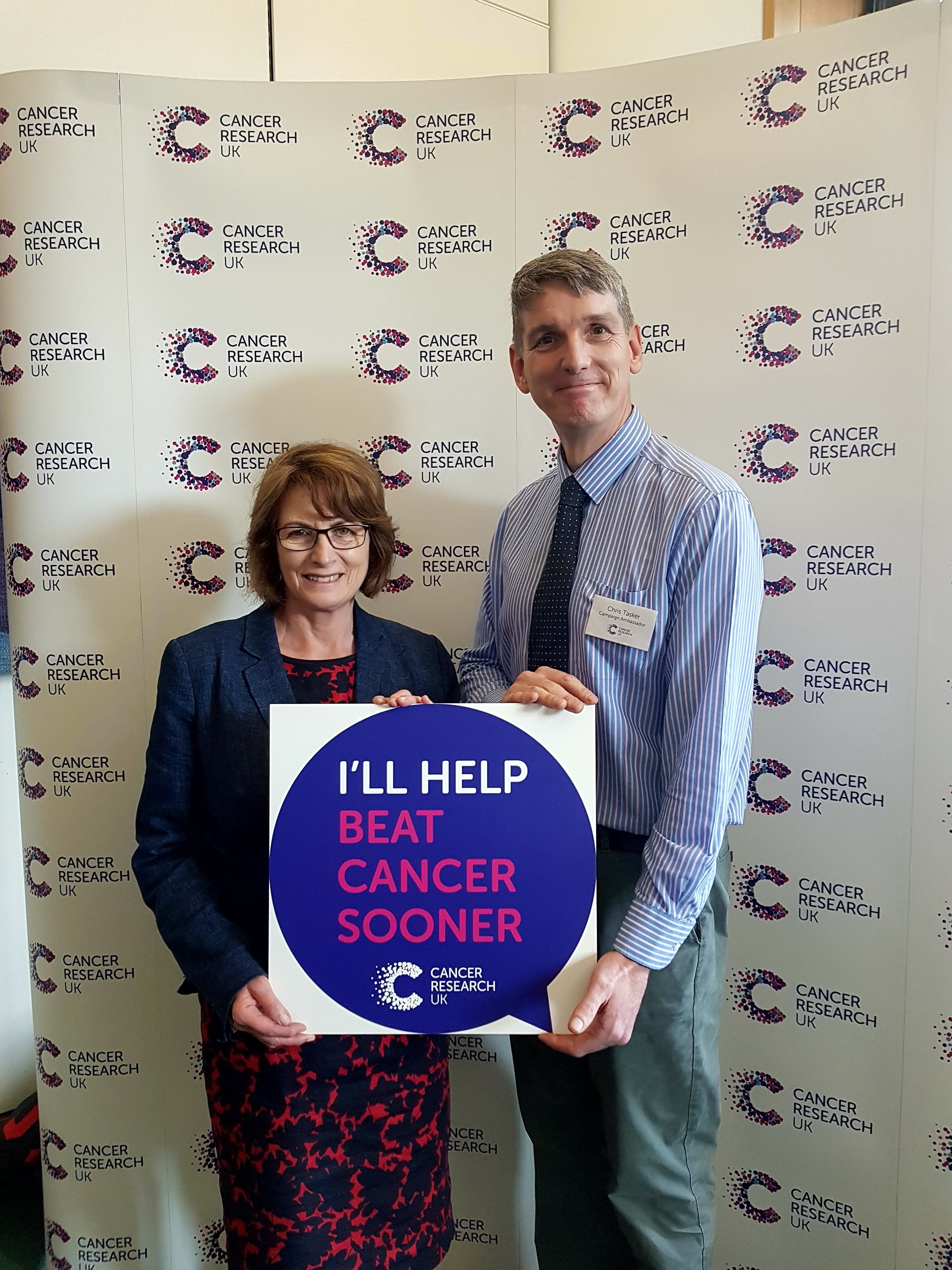 Meeting Cancer Research UK to discuss the challenges we face in Liverpool.