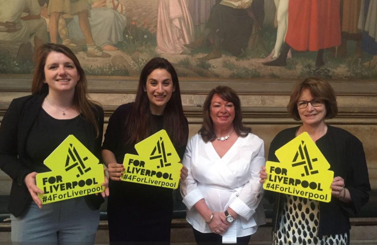 Supporting the #4forLiverpool bid for Channel 4 to relocate to the city