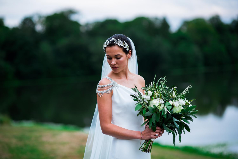 bride at wynyard hall wedding
