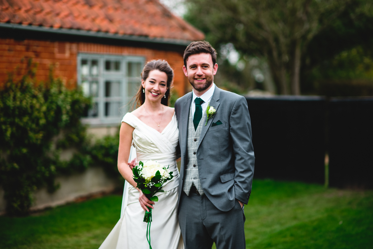 Granary Estates wedding photo - bride and groom outside