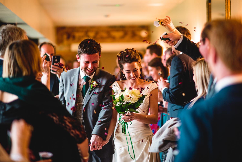Granary Estates wedding photo - confetti