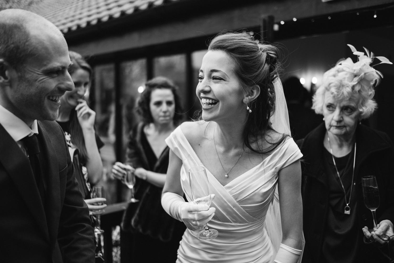Granary Estates wedding photo - bride laughing