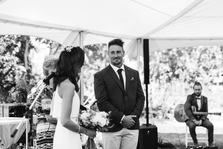 Edinburgh Wedding Photographer - bride and groom during the ceremony