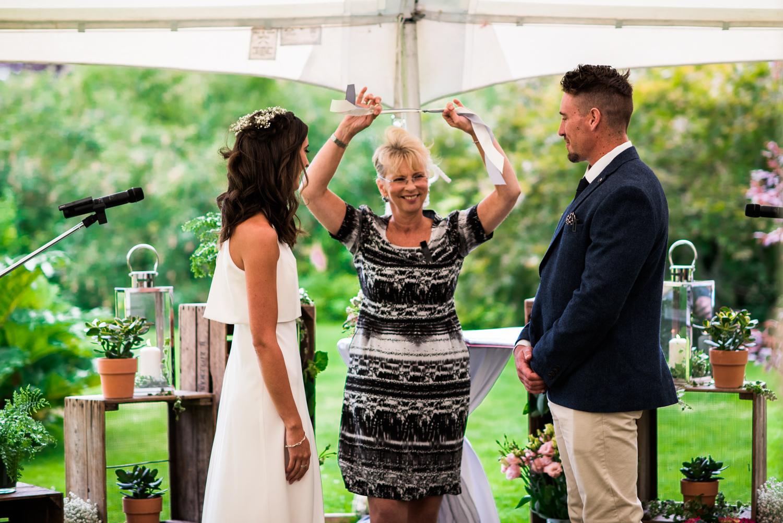 Newhall Estate Edinburgh Wedding - Tying the knot ceremony