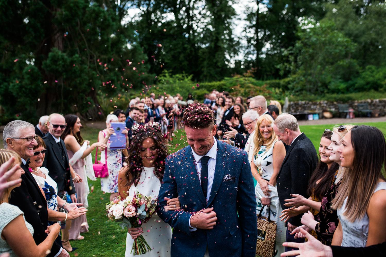 Newhall Estate Edinburgh Wedding - confetti