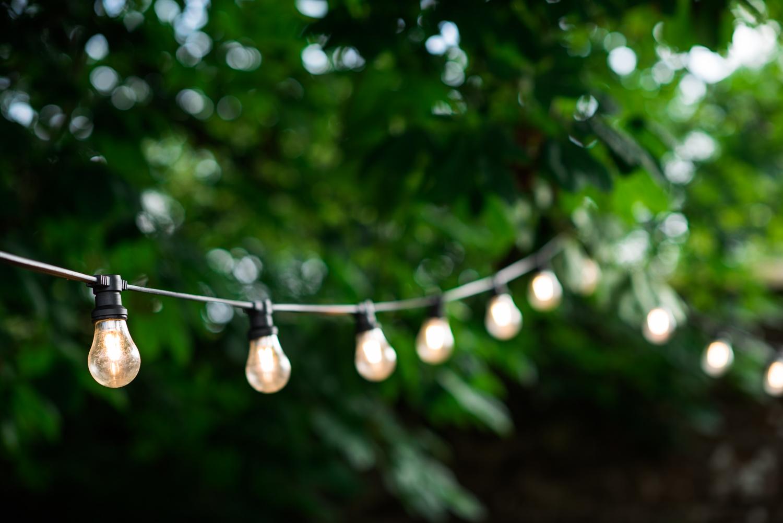 Newhall Estate Edinburgh Wedding - lights