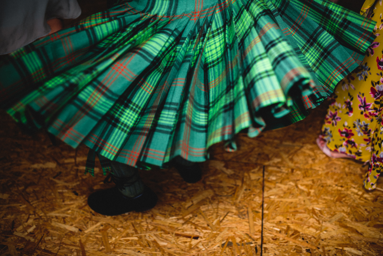 Newhall Estate Edinburgh Wedding - a kilt swirls during a dance