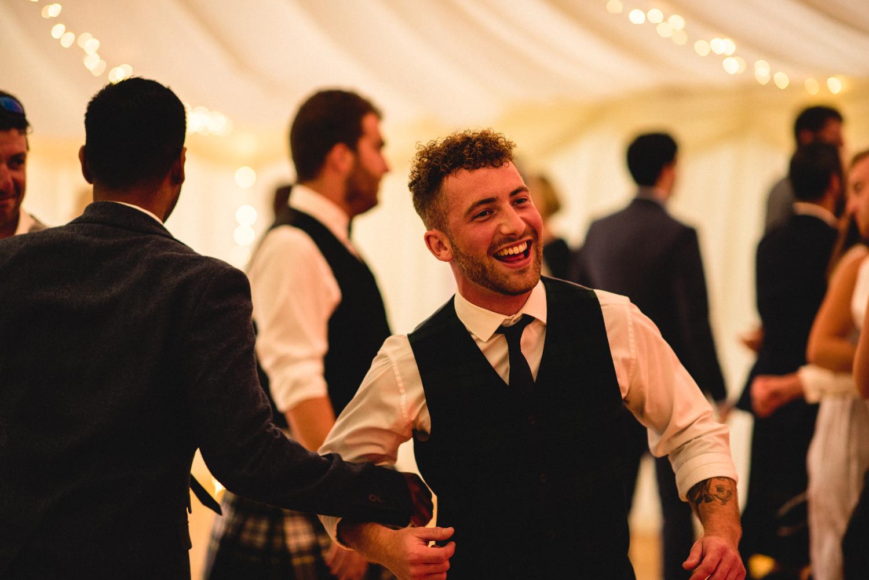 Newhall Estate Edinburgh Wedding - guests dancing