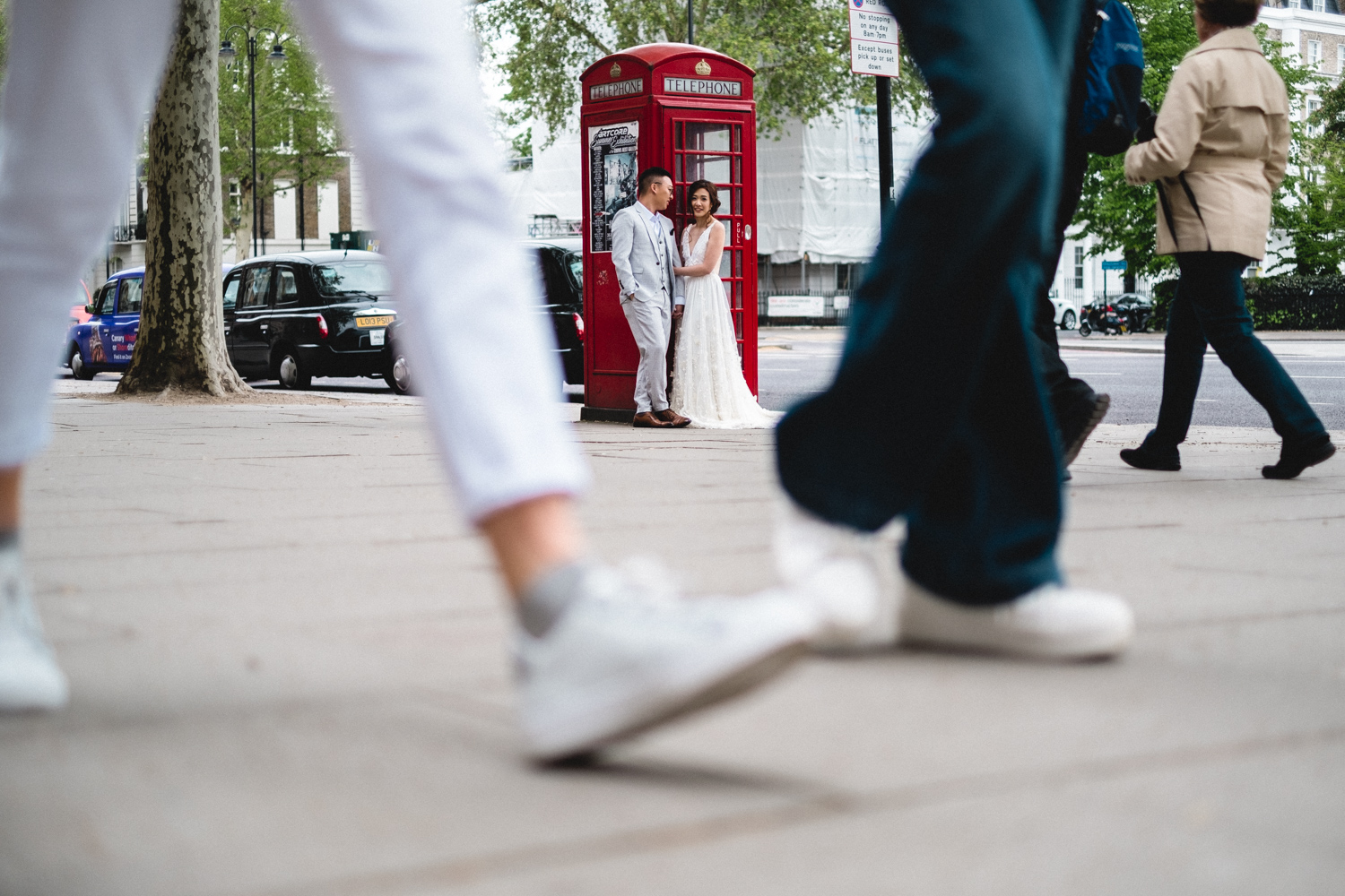 London pre-wedding photos - street photography style