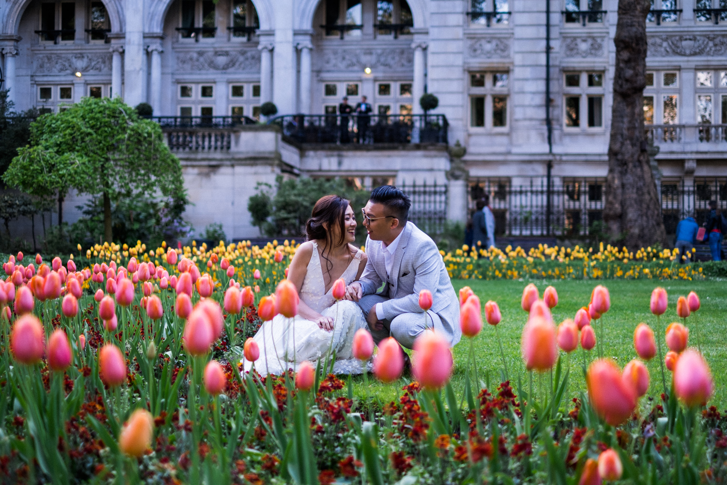 Copy of London pre-wedding photos - flowers