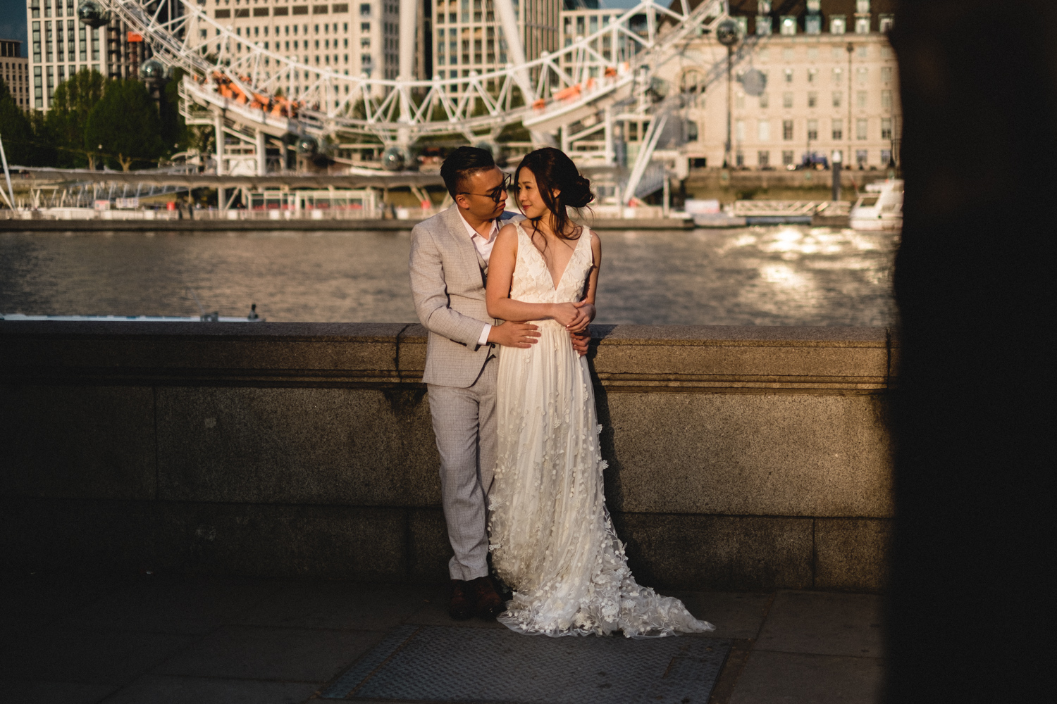 London pre-wedding photos - London Eye
